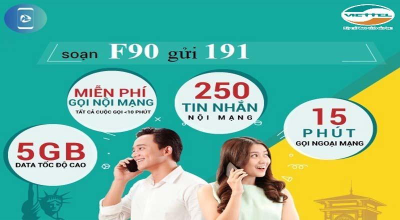 SIM VIETTEL F90 4G Gọi miễn phí nội mạng